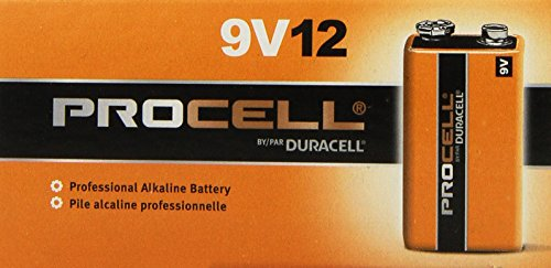 Procell 9V Alkaline Battery Bulk Pack - 72 Per Package
