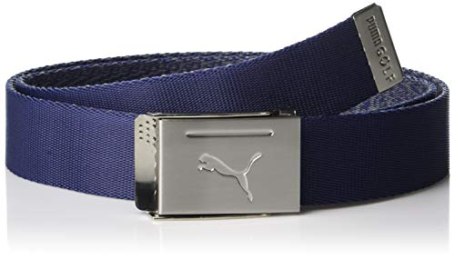 Puma Golf 2019 Men's Reversible Web Belt (One Size), Peacoat