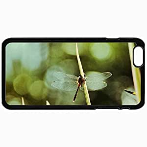 Fashion Unique Design Protective Cellphone Back Cover Case For iPhone 6 Case Dragonfly Black