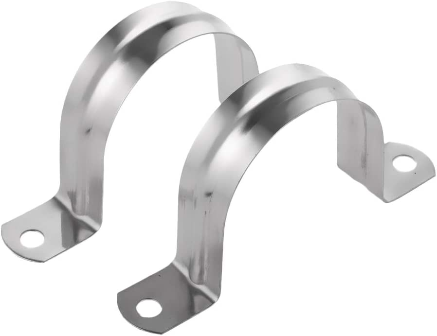 Pack of 2PCS Snap-On U Pipe Strap Bracket Clamps Tube Conduit Hangers Clips 16mm