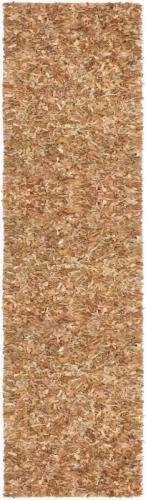 (Leather Shag Rug Soft Allover Suede 2'x7'6