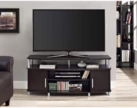 Amazon Com Nov8n Tv Stand For Up To A 50 Inch Tv Dark Brown Kitchen Dining
