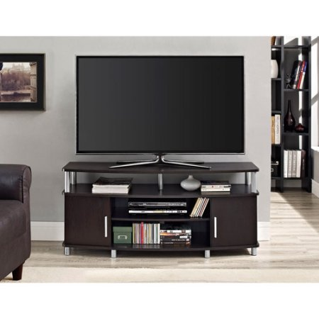 Carson 50 Inch TV Stand Space Funiture for A/V Components, DVDs, Flat Screen TV and Media Players - Espresso