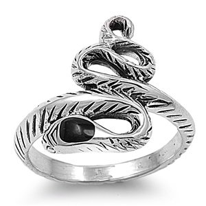 Harry Potter – Sterling Silver Slytherin Snake Ring