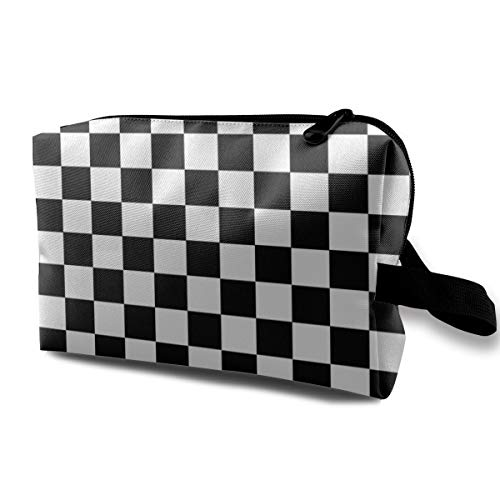 - Makeup Cosmetic Case, Travel Makeup Train Case Pouch Multipurpose Clutch Bag, Large Space Storage Pouch Pencil Bag, (Checkerboard), Women's Portable Gift
