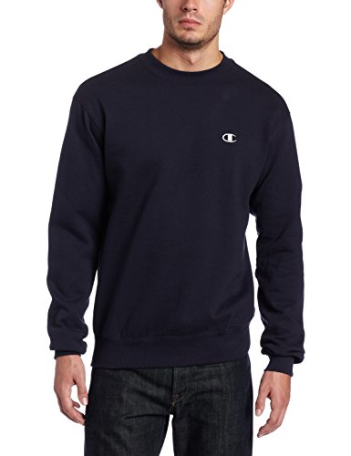 Champion Men's Pullover Eco Fleece Sweatshirt, Navy, XX-Large - Heavyweight Fleece Crew Sweatshirt