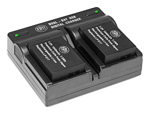 BM Premium Fully Decoded 2-Pack of LP-E17 Batteries and USB