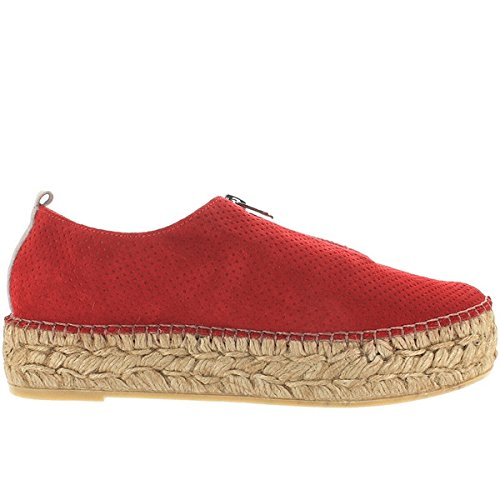 Eric Michael Serena - Red Perf Suede Athleisure Espadrille - Size: 40 by Eric Michael (Image #1)