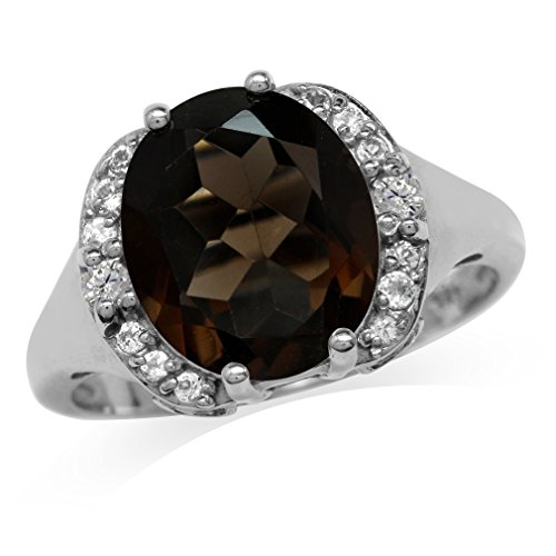 Smoky Quartz Cubic Zirconia Ring - 3