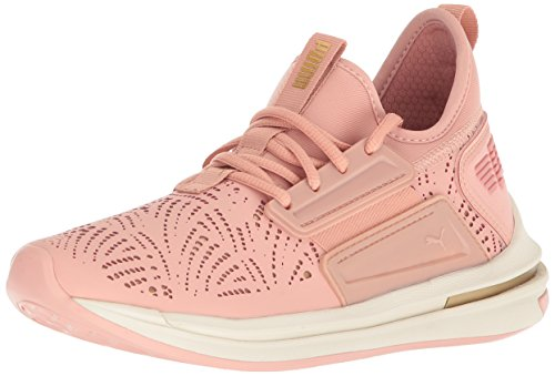 PUMA Women's Ignite Limitless SR Lazercut WN Sneaker, Peach Beige-Gold, 8 M US