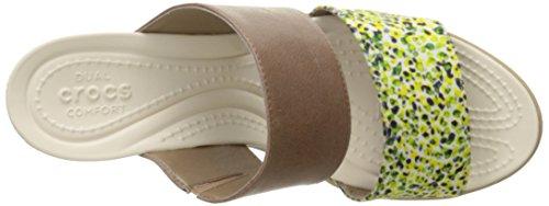 Graphic 2 II Wedge Sandal Bronze GOLD Crocs Strap Leigh Women's p7nxRtX