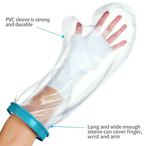 Waterproof Arm Cast Protector for Shower Bath, Reusable Bandage Cover Keeps Casts Bandages Dry, Adult Arm Cast Sleeve Bag Covers Hands, Wrists, Fingers for Wounds Burns 22 Inches by DOACT (Image #3)