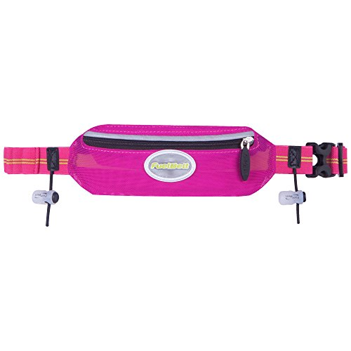 FuelBelt Helium Super-Stretch Race Waistpack, Maui Pink/Lagoon Green