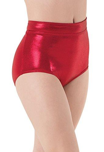 Balera Dance Metallic Brief Red Adult Large (Spandex Briefs Metallic)
