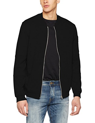 Sweat reg Fit Zip Nero black Uomo Neck Jack Noos Baseball Jcopete amp; Jones Giacca AwqqatO