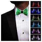 LED Light up Bow Tie 7 Colors Luminous Bowtie, Gray