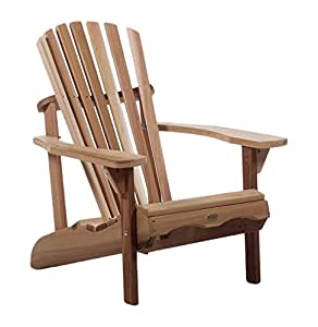 Western red cedar adirondack chair patio and garden for Patio furniture covers amazon ca