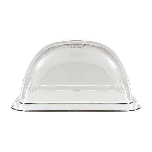 GET Enterprises inc Mediterranean Styrene Acrylonitrile Square Dome Cover Only, 6.5 inch Tall - 6 per case