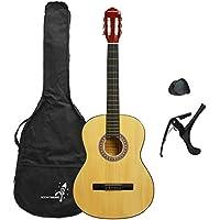 Rocket XF201AN XF Series - Guitarra española clásica (tamaño 4/4), color natural