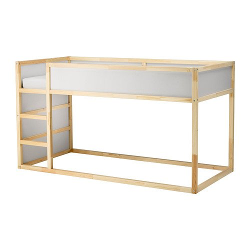 IKEA Reversible Bed, White, Pine Size Twin