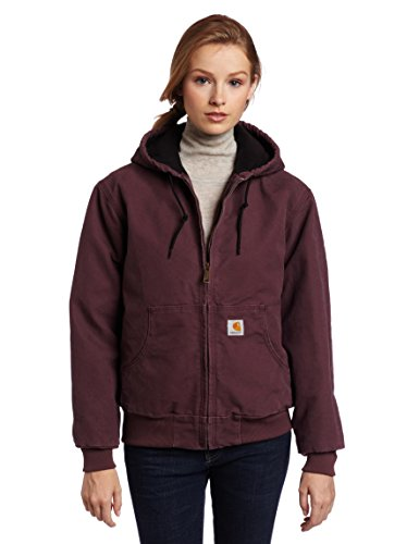 - Carhartt Women's Quilted Flannel Lined Sandstone Active Jacket WJ130,Dusty Plum,Medium