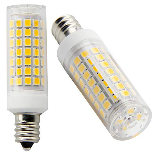 Orange-1 E12 LED Bulb 6W, Equivalent Candelabra Bulbs 75W,AC 110V-120V, Warm White 3000K (Pack of 2)