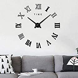 Wall Clocks - 3d Acrylic Special Diy Wall Clock Frameless Roman Numbers Figures With Sticker - Patio Watch Living White Zones That Mirror 10 Bathroom Hanging