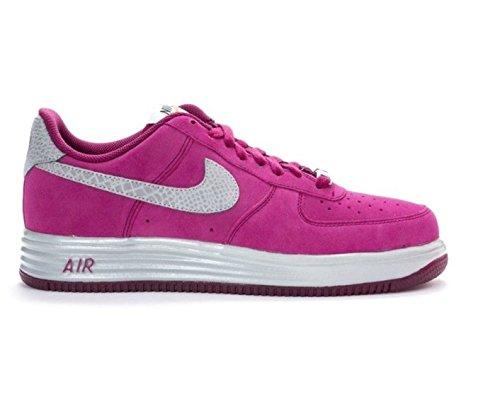 Zapatillas Hombre Nike Lunar Force 1 Reflect. Tamaño 12.5. Frambuesa Roja / Refleja Plata