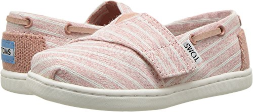 TOMS Kids Baby Girl's Bimini (Infant/Toddler/Little Kid) Bloom Chambray Stripe 11 M US Little -