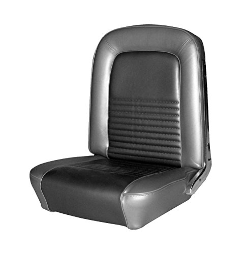 Fastback Upholstery - TMI 43-72227-958 Mustang Black Sierra Grain Vinyl Full Set Upholstery (Fastback)