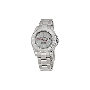 Rolex Yacht-Master Platinum Dial Stainless Steel Automatic Mens Watch 168622PLSO