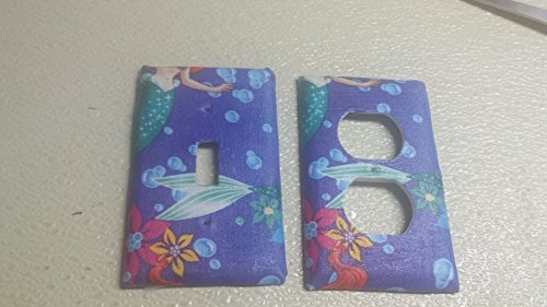 Little Mermaid Purple Outlet Switch Covers