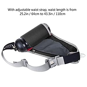 G4Free Runners Waist Pack with Water Bottle Holder for Outdoor Sports, Running Cycling Hiking Waist Bag Fanny Pack (No Bottle Included)Black