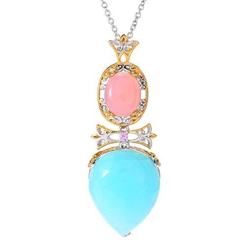 Pink Peruvian Opal Pendant - 6