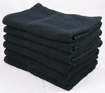 pack of 6 budget cheap black 100 cotton bath towels set