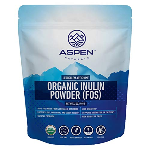 Organic Inulin from Jerusalem Artichoke – Premium Fiber Supplement, Natural Prebiotic Powder, Aids Digestion, Supports Gut, Intestinal, and Colon Health, Easily Mix in Hot & Cold Drinks, Baked Goods