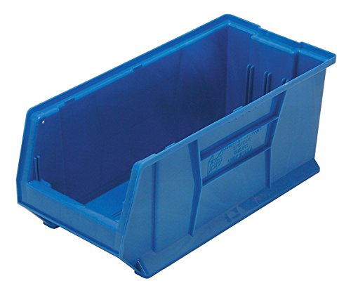 Quantum Storage Systems Windows - Quantum QUS953 Plastic Storage Stacking Hulk Container, 24-Inch by 11-Inch by 10-Inch, Blue, Case of 4