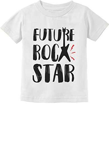 Tstars - Future Rock Star Cool Children's Gift Toddler Kids T-Shirt 2T White