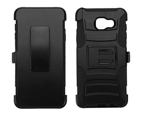 Asmyna Cell Phone Case for Samsung A310 Galaxy A3 – Retail Packaging – Black