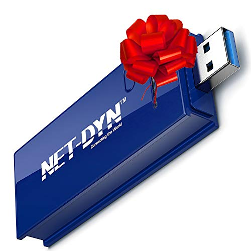 - NET-DYN USB Wireless WiFi Adapter,AC1200 Dual Band , 5GHz and 2.4GHZ (867Mbps/300Mbps), Super Strength So You Can Say Bye to Buffering, for PC or Mac, for Desktop or Laptop