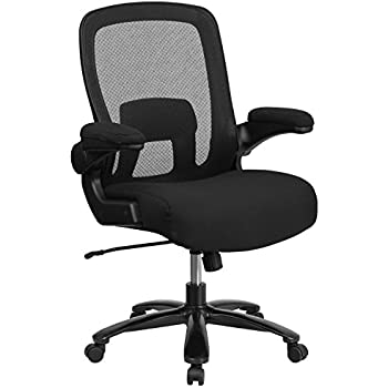 Flash Furniture HERCULES Series Big U0026 Tall 500 Lb. Rated Black Mesh  Executive Swivel Chair