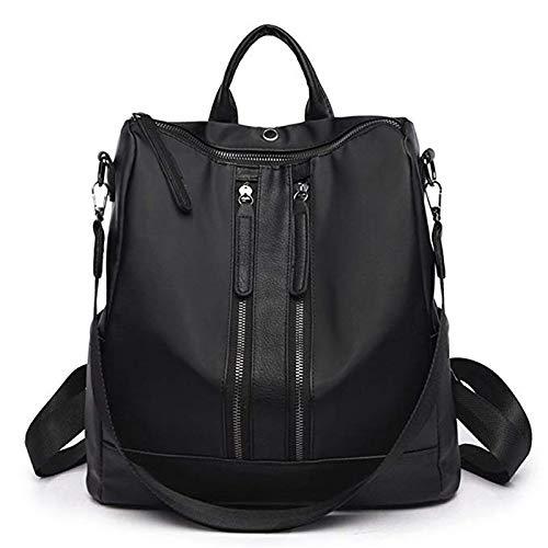 Donna Shopping Chen Nero Con Per Da Gray colore Zaino Cerniera Impermeabile Lo q6qrA7wRa