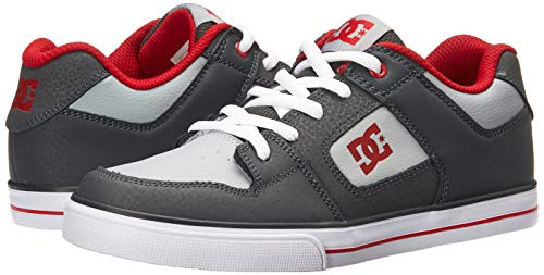 Pictures of DC Pure Elastic Skate Shoe Grey 11. ADBS300350 Grey 4
