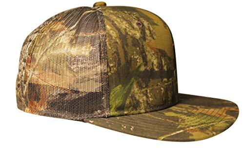 Mossy Oak Trucker Cap Mesh Back Flat or Curved Visor (Snapback Hat)