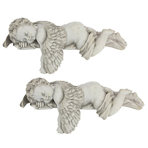 2 Angel Statues - Design Toscano Sleepy Time Angel Statue: Set of Two