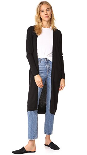 Bop Basics Women's Cashmere Duster Sweater Coat, Black, X-Small