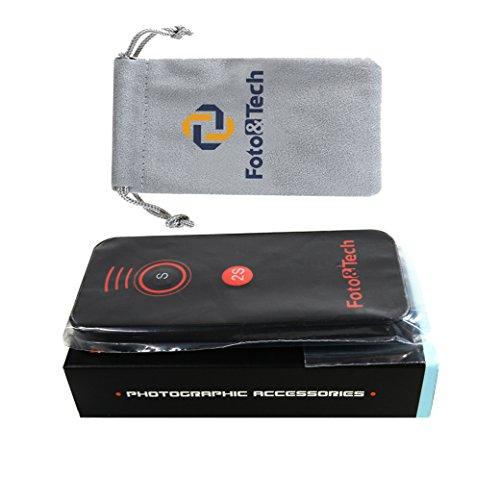 Foto&Tech IR Wireless Remote Control Compatible with Sony A7III,A7R III,A9,A7R II,A7 II,A7 A7R A7S A6500 A6300 A6000 A55 A65 A77 A99 A900 A700 A580 A560 A550 A500 A450 A390 NEX-7 NEX-6 NEX-5T NEX-5R
