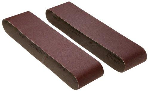 Woodstock D1255 4-Inch by 36-Inch 220 Grit Aluminum Oxide Sanding Belt, 2-Pack