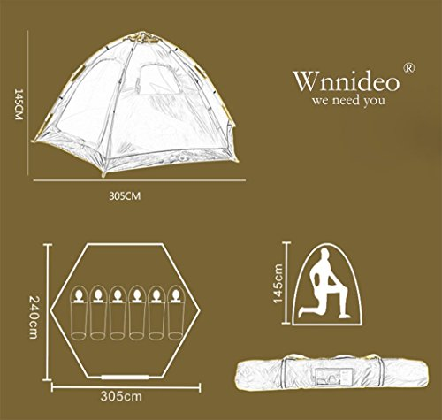 Wnnideo Instant Family Tent 6 Person Large Automatic Pop Up Tents Waterproof for Outdoor Sports C&ing & Wnnideo Instant Family Tent 6 Person Large Automatic Pop Up Tents ...