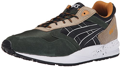 ASICS Men's GEL Saga Retro Running Shoe, Black/Black, 12 M US